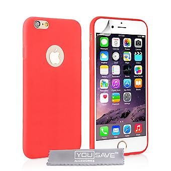 iPhone 6 en 6s Ultra dunne Gel Case - rood