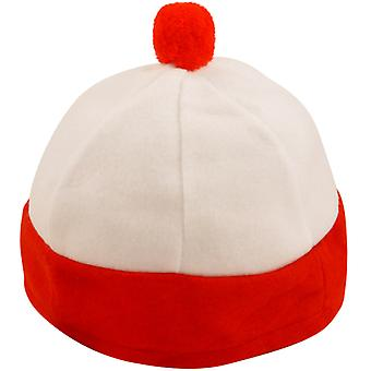 Character Red & White Bobble Hat Childrens Fancy Dress Accessory