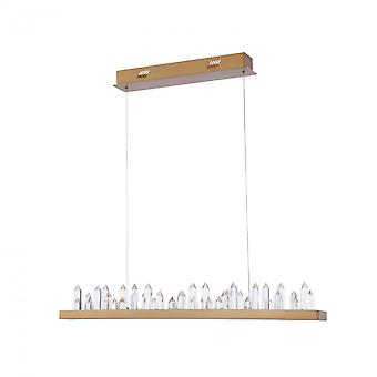 Maytoni Lighting Gletscher House Collection Pendant, Brass