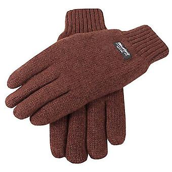 Dents Plain Knitted Gloves - Chocolate