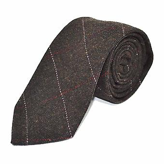 Luxury Herringbone Chocolate Brown Tie