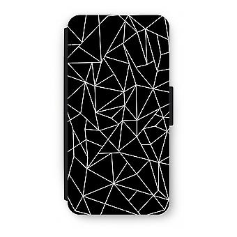Samsung Galaxy S8 Plus Flip Case - Geometric lines white