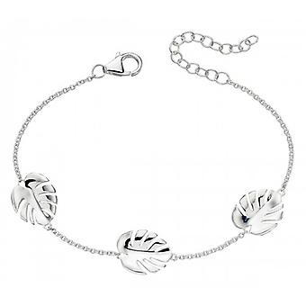 Elements Silver Cheese Plant Leaf Bracelet - Silver