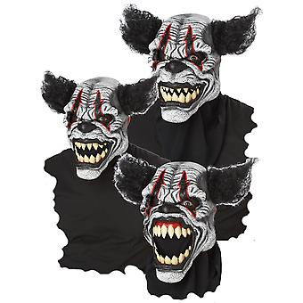 Last Laugh the Clown Deluxe Horror Halloween Men Costume Ani-Motion Mask