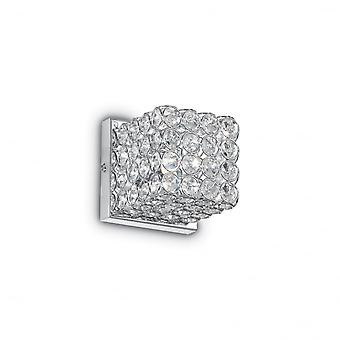 Ideal Lux Admiral Crystal Wall Cube Light