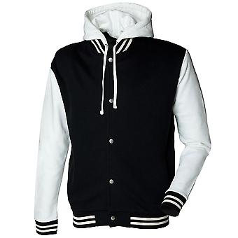 Skinni Fit Mens Long Sleeve Heavy Weight Baseball Jacket With Detachable Hood