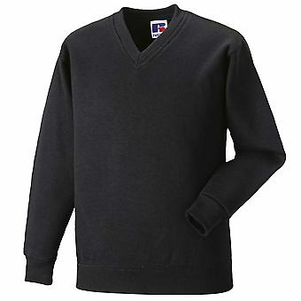 Russell Collection Mens V-neck sweatshirt