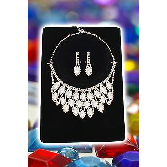 Smykker og kroner halskæde og dråbe øreringe