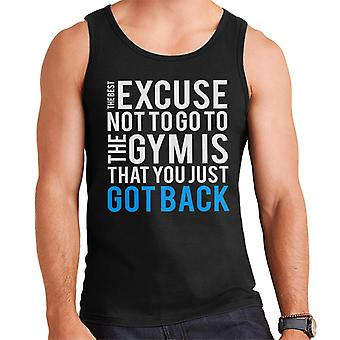 The Best Excuse Not To Go To The Gym Men's Vest