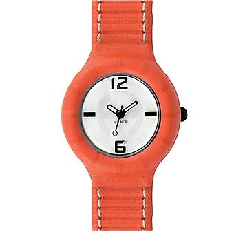 Hip Hop clock silicone leather small HWU0201 Arancio