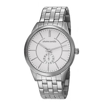 Pierre Cardin mens watch wristwatch TROCA SILVER PC106571F06