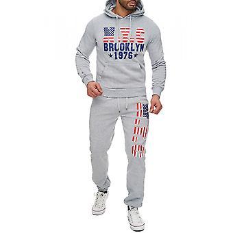 Mens jogging suit print sweater sweatpants set Hoodie sweat suit, sports fashion