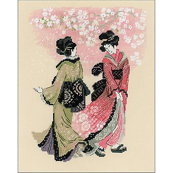 Cherry Blossom Counted Cross Stitch Kit-9.5
