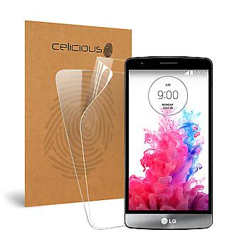 Celicious Vivid Invisible Glossy HD Screen Protector Film Compatible with LG G3 S [Pack of 2]