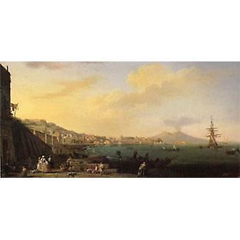 View of Naples with Nt. Mount Vesuvius, VERNET Claude-Joseph, 80x40cm