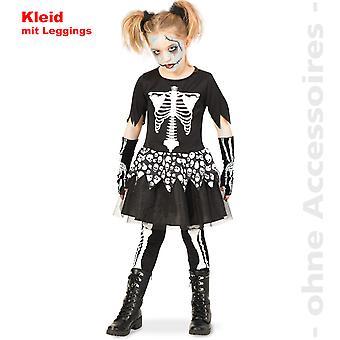 Skeleton costume skull gown skull kids skeleton Halloween child costume