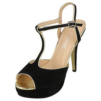 Ladies Anne Michelle Open Back Platform Heels