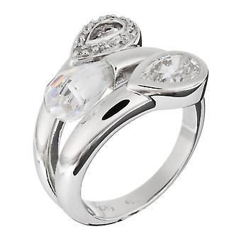 Orphelia Silver 925 Ring ZR-3620 Biolet Cut duidelijk zirkonium