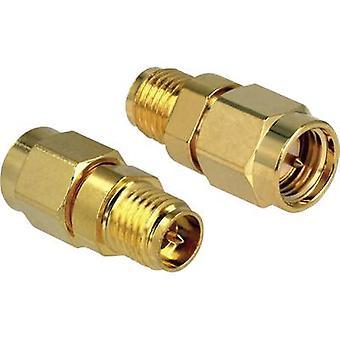 Delock Wi-Fi-antenner adapter [1x RP-SMA socket-1x SMA stik] 0 m guld