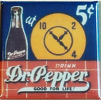 Dr. Pepper Stahl-Mini-Kühlschrank-Magnet