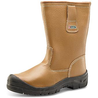 Click Leather & Lined Rigger Boot Full Safety With Scuff Cap S1P Src - Rblssc