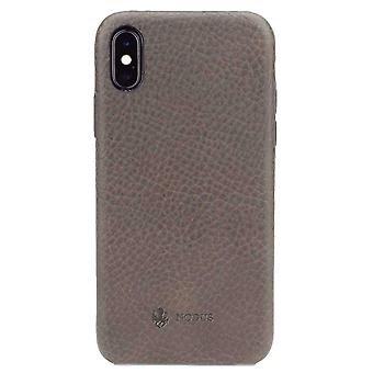 Nodus Shell II iPhone X Case and Micro Dock III - Taupe Grey