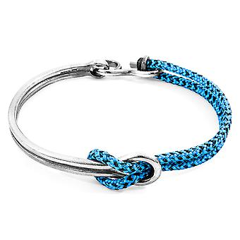 Anchor & Crew Blue Noir Tay Silver and Rope Half Bangle