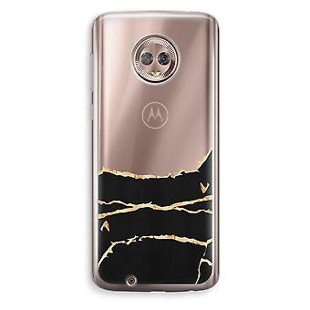 Motorola Moto G6 Transparent Case (Soft) - Gold marble