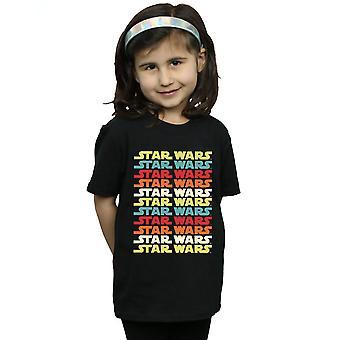 Star Wars Girls Retro Repeat Logo T-Shirt