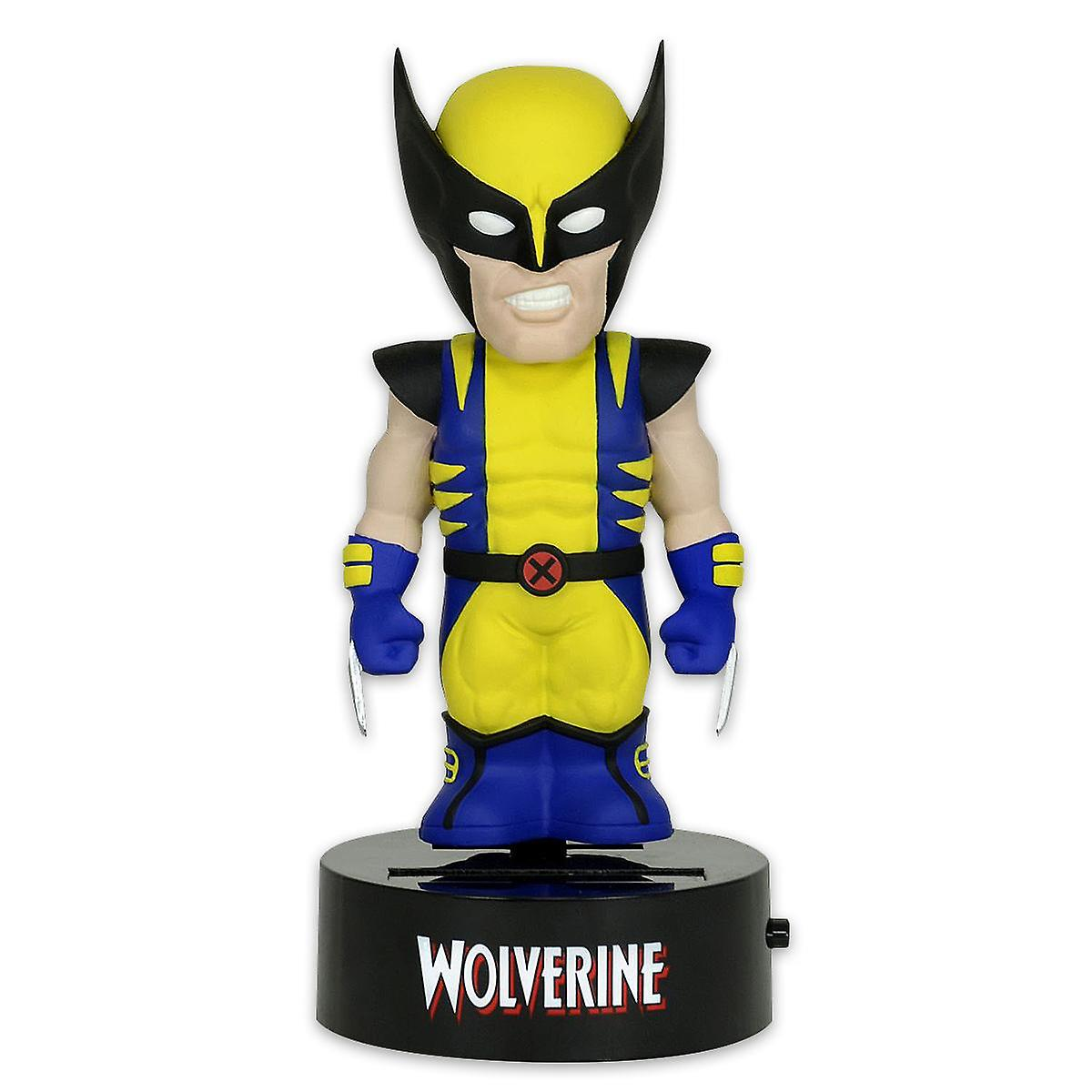 Marvel body knockout Wolverine Aalok figure made of plastic, solar powered.