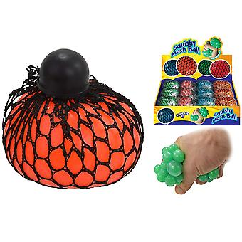 Squishy Mesh Ball Assorted Colours - One Supplied