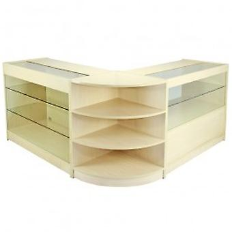 Jupiter Maple Shop Counter & Retail Display Set
