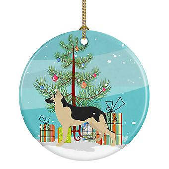 Carolines Treasures  BB8492CO1 German Shepherd Christmas Ceramic Ornament