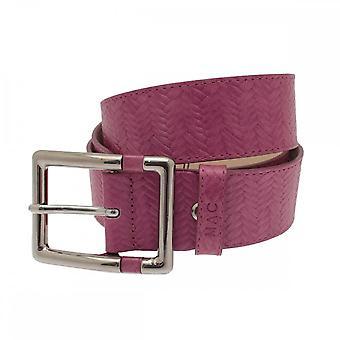 Mac ジーンズ女性の織り効果シルバー バックルのベルト