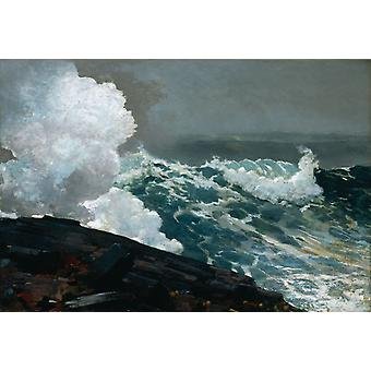 Northeaster, Winslow Homer, 40x60cm with tray