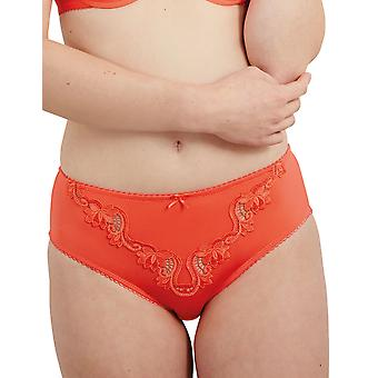 Guy de France 61103-D Women's Laura Coral Embroidered Brief