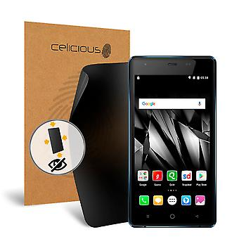 Celicious Privacy Plus 4-Way Anti-Spy Filter Screen Protector Film Compatible with Micromax Canvas Spark 4G Q4201
