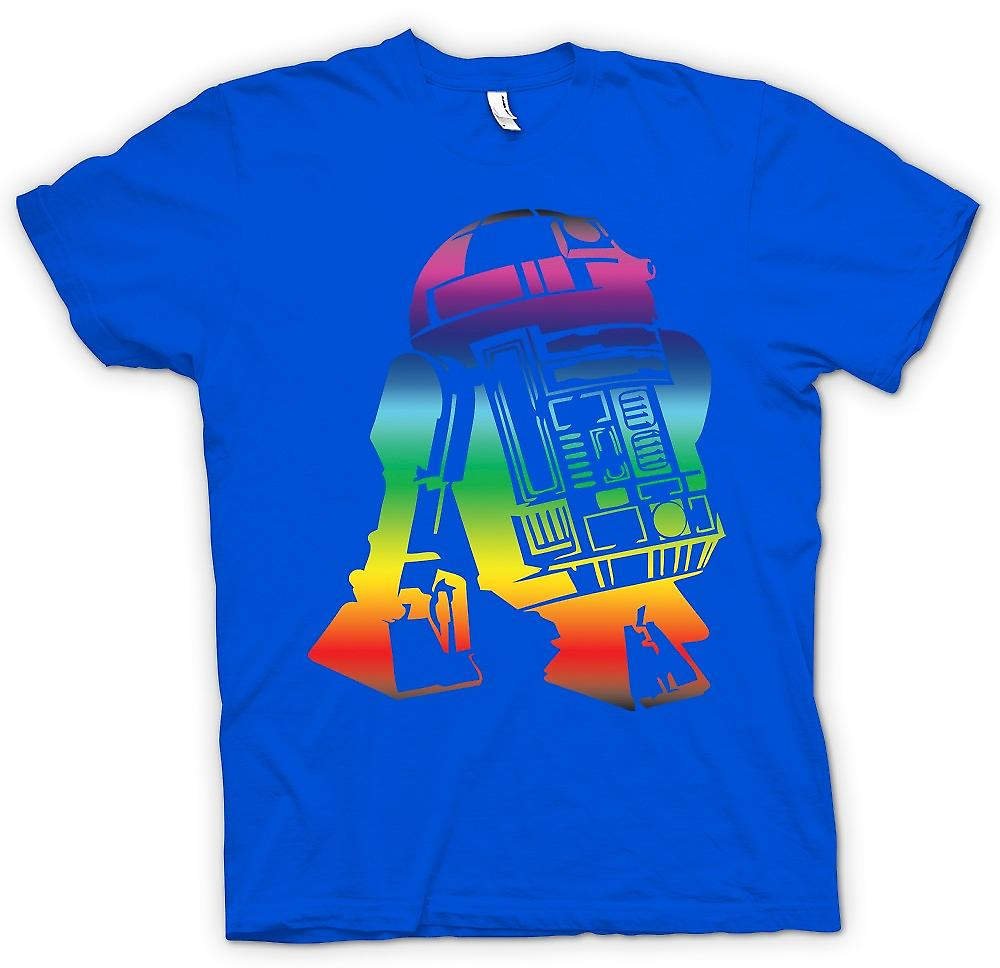 Herr T-shirt-R2D2 Star Wars inspirerad Design