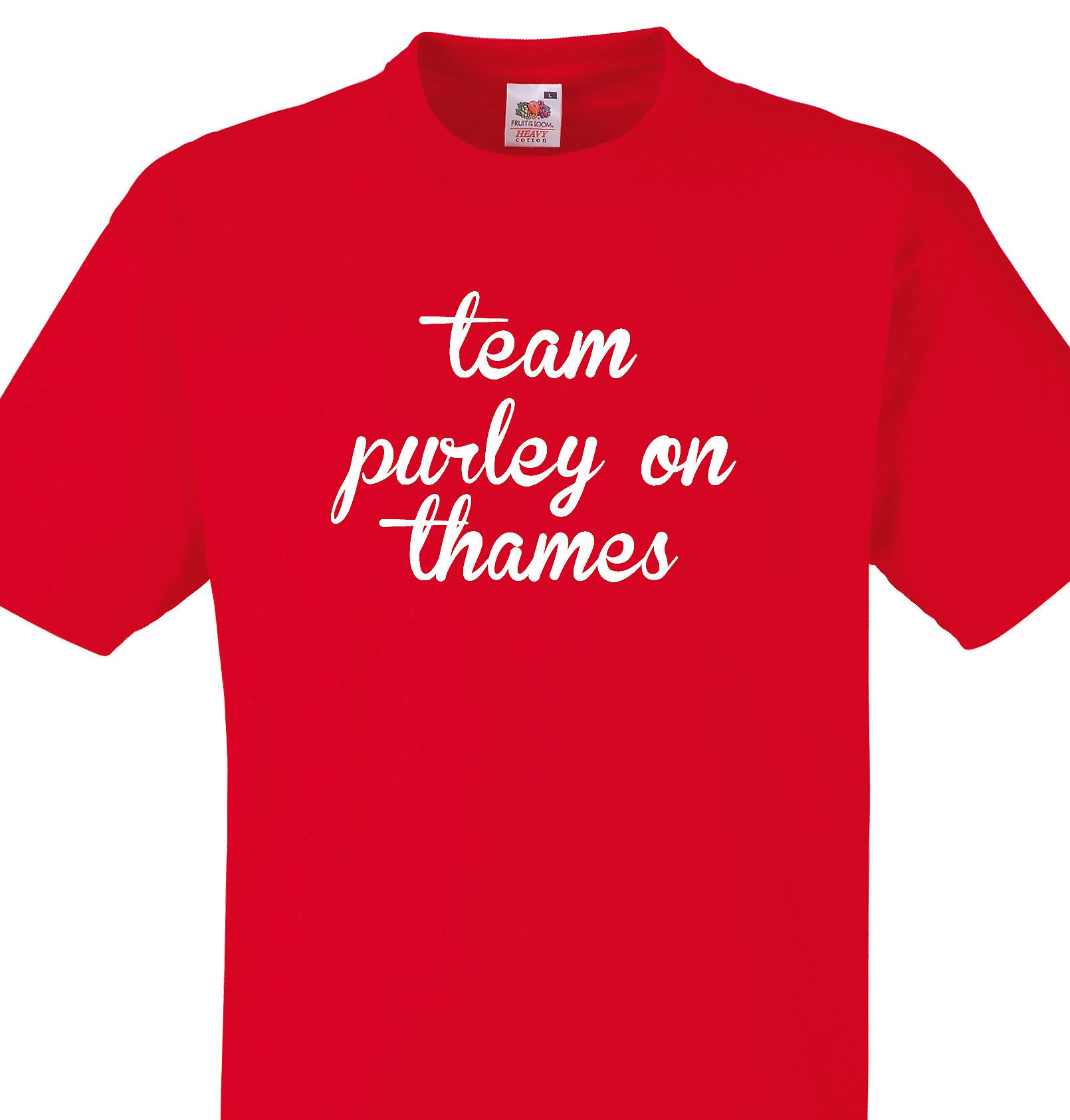 Team Purley on thames Red T shirt