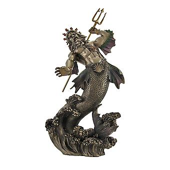 Poseidon God of the Sea Bronzed Statue