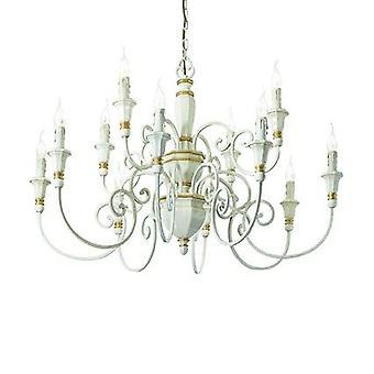 Idealne Lux - biały Palio dwanaście Light Świecznik IDL093789