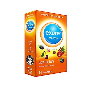 Pack of 14 Exure Extra Fun Fruity Flavoured Condoms
