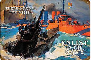 Enlist in the Navy (US) rusted metal sign  REDUCED