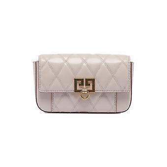 Bolsa de ombro de couro rosa pálido de Givenchy