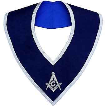 Masonic Master Mason Collar Blue Velvet Hand Embroidered