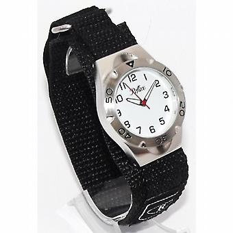 Riflesso al quarzo analogico quadrante bianco nero facile fissare Gents - Mens Watch VEL03G