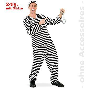Döma herr kostym av fånge mäns tank breaker Jailbird mens kostym