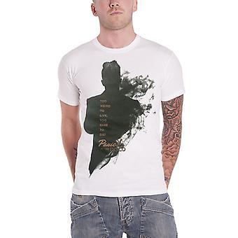 Panico a il disco T shirt troppo strano per vivere Smoke Brendon ufficiale Mens bianco