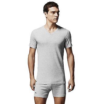 Col en v Lacoste Pack 3 T-shirts Grey Melange