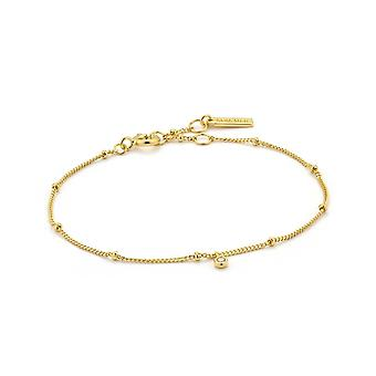Ania Haie Gold Plated Sterling Silver 'Touch Of Sparkle Shimmer' Chain Bracelet